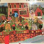 Den 25 juni 1913. Akvarell 1969.  Bilden visar när Xet som fjortonåring är på väg att anmäla sig som gesäll hos Målaremästare Oscar Strömblad i Tumba.