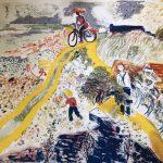 Märta cyklar