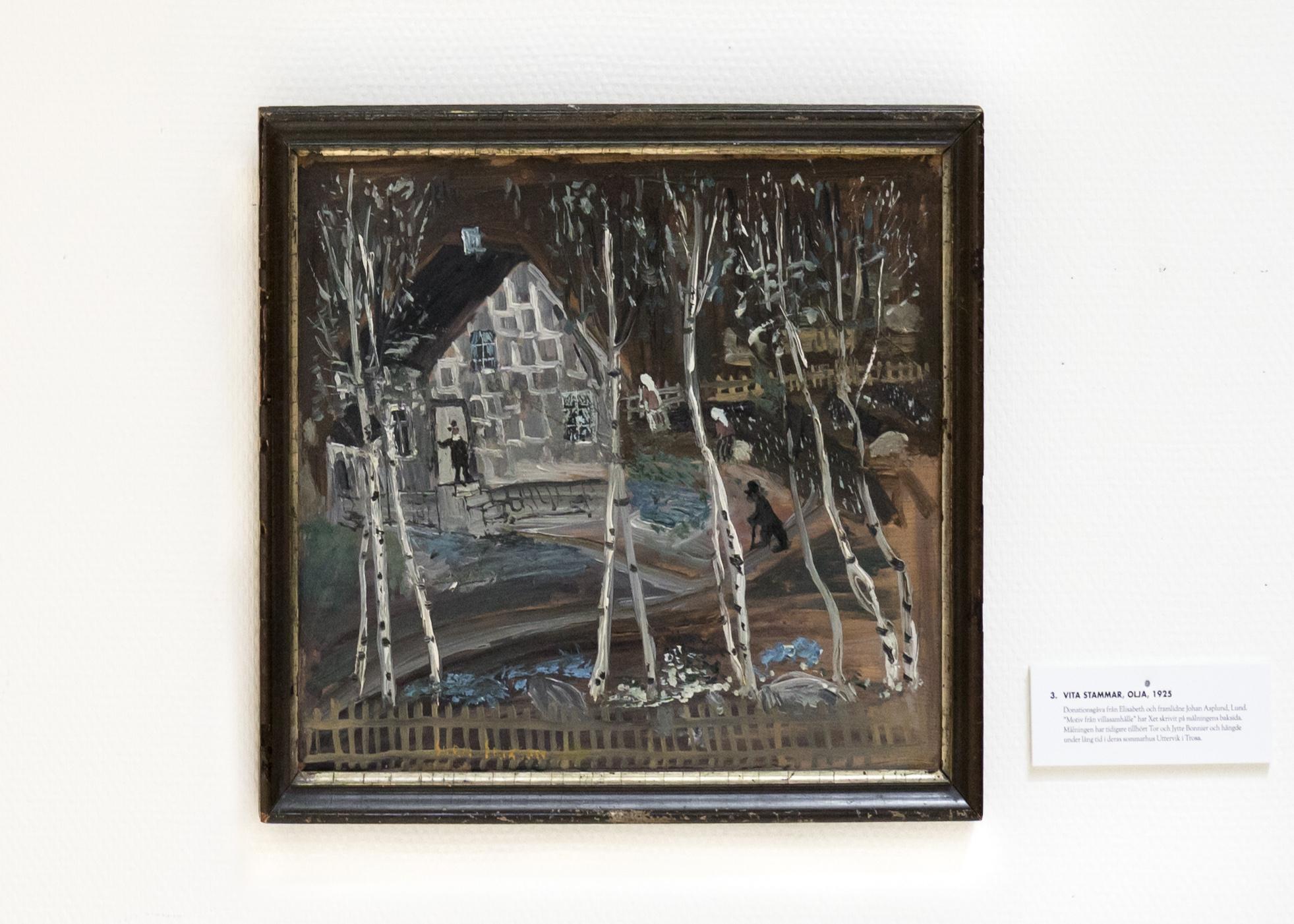 Vita stammar, olja, 1925