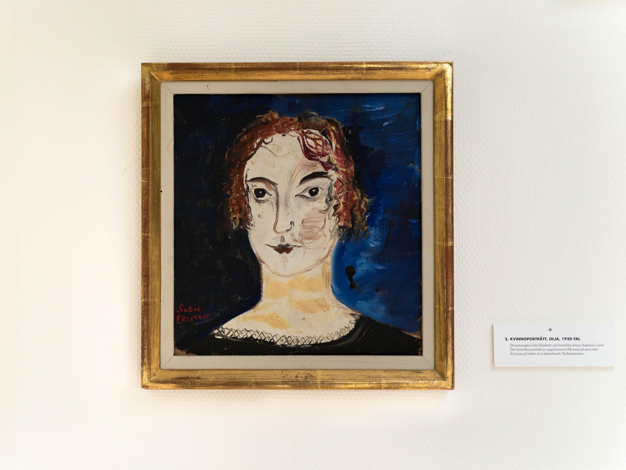 Kvinnoporträtt, olja, 1920-talet