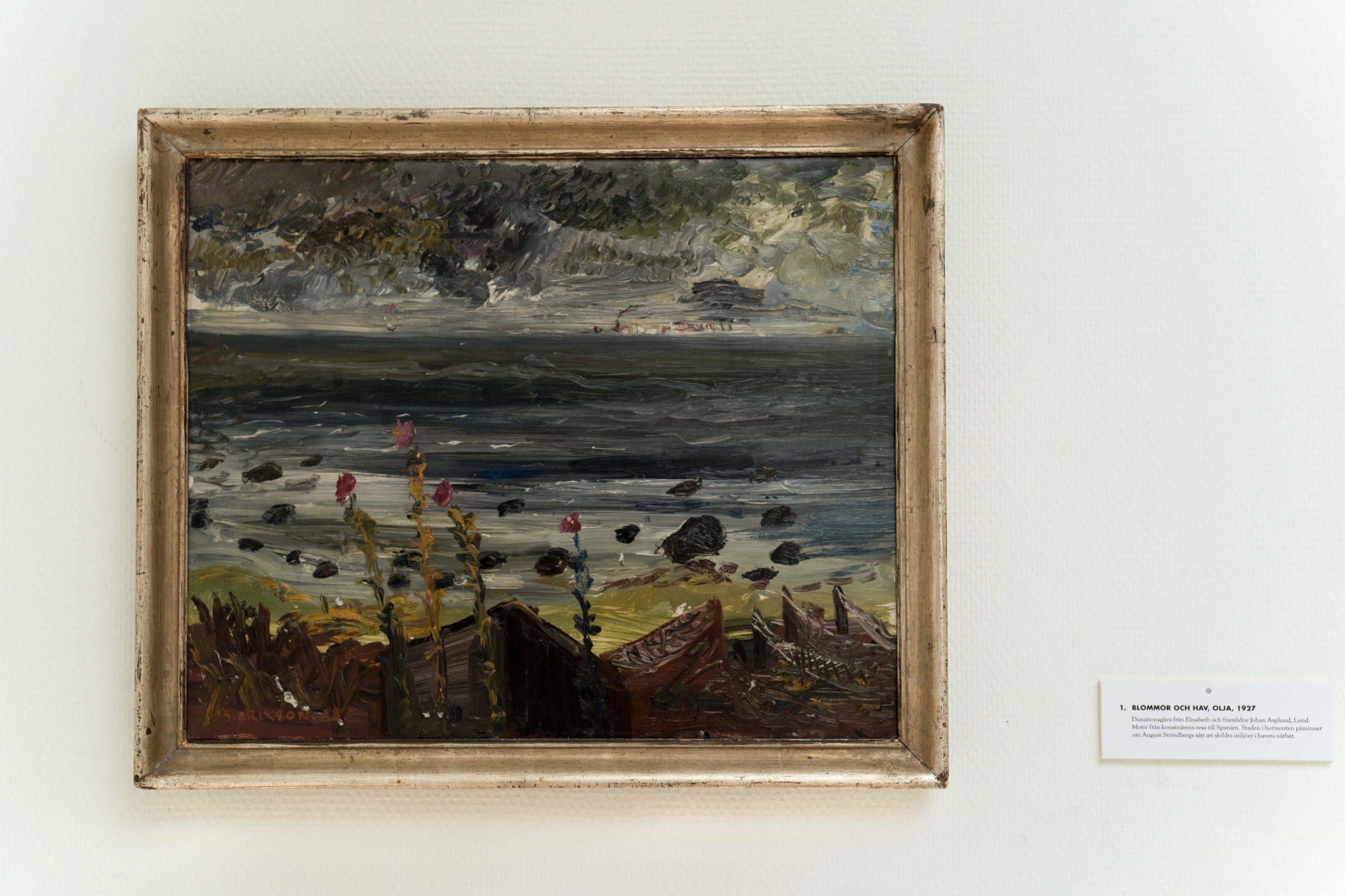 Blommor och hav, olja, 1927